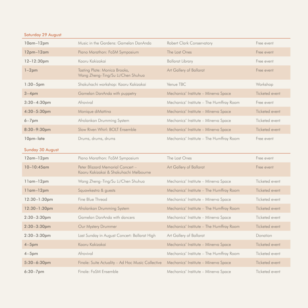 FoSM 2015 Timetable p2